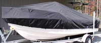 LaPortes™ TTopCover™ Yellowfin, 34CC, 20xx, T-Top Boat Cover, port front