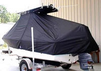 Photo of Edgewater 188CC 20xx T-Top Boat-Cover, viewed from Port Rear