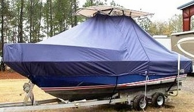 Edgewater, 200CC, 19xx, TTopCovers™ T-Top boat cover, port front