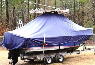 Edgewater, 200CC, 19xx, TTopCovers™ T-Top boat cover, starboard rear