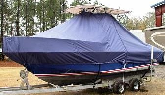 Edgewater, 200CC, 20xx, TTopCovers™ T-Top boat cover, port front