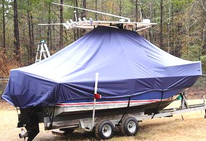 Edgewater, 200CC, 20xx, TTopCovers™ T-Top boat cover, starboard rear