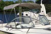 Photo of Edgewater 205EX, 2005: Bimini Top, viewed from Starboard Front
