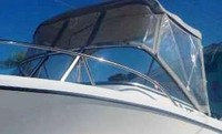 Photo of Edgewater 205EX, 2007: Bimini Top, Connector, Side Curtains, viewed from Port Front
