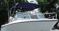 Photo of Edgewater 205EX, 2009: Bimini Top, viewed from Starboard Front