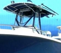 Photo of Edgewater 225CC, 2005: Factory T-Top Enclosure Curtains, viewed from Port Front