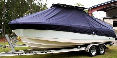 Edgewater 245CC, 19xx, TTopCovers™ T-Top boat cover side