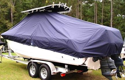 Edgewater 245CC, 20xx, TTopCovers™ T-Top boat cover, port rear