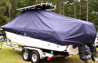 Photo of Edgewater 245CC 20xx T-Top Boat-Cover, viewed from Port, Rear