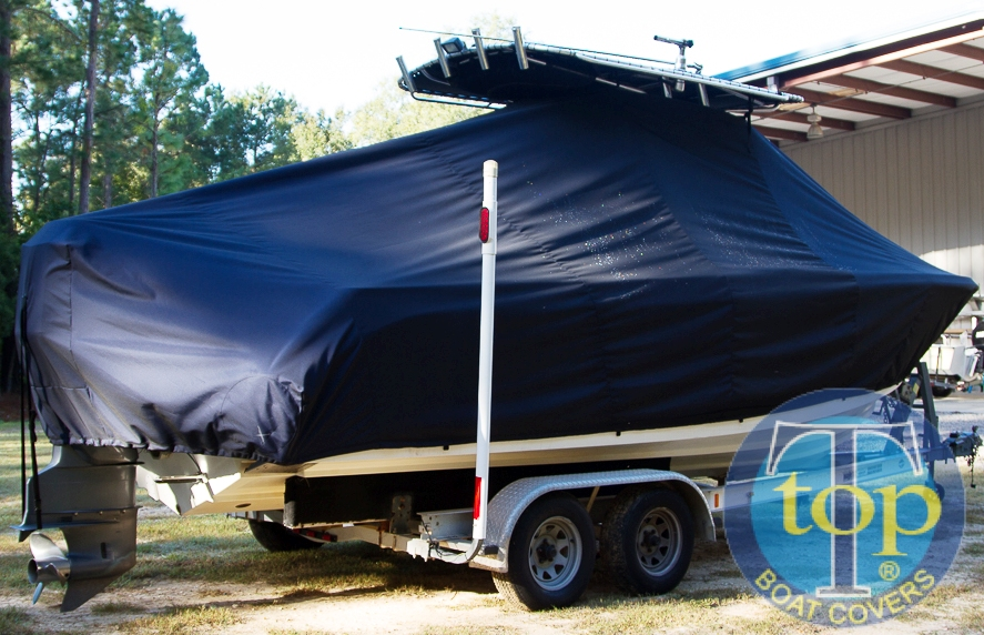 Edgewater 245CC, 20xx, TTopCovers™ T-Top boat cover, starboard rear