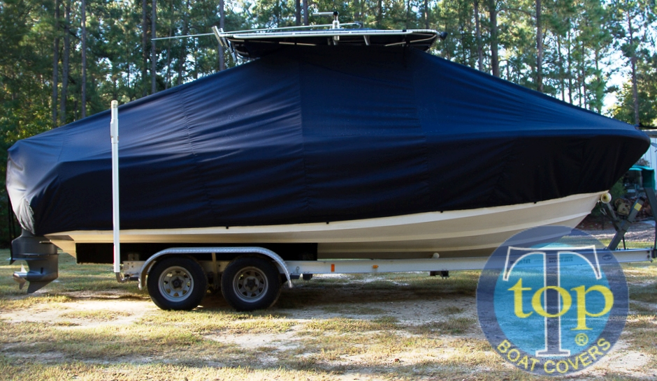 Edgewater 245CC, 20xx, TTopCovers™ T-Top boat cover, starboard side