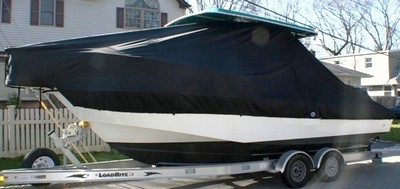 Edgewater 247CC, 19xx, TTopCovers™ T-Top boat cover, port side