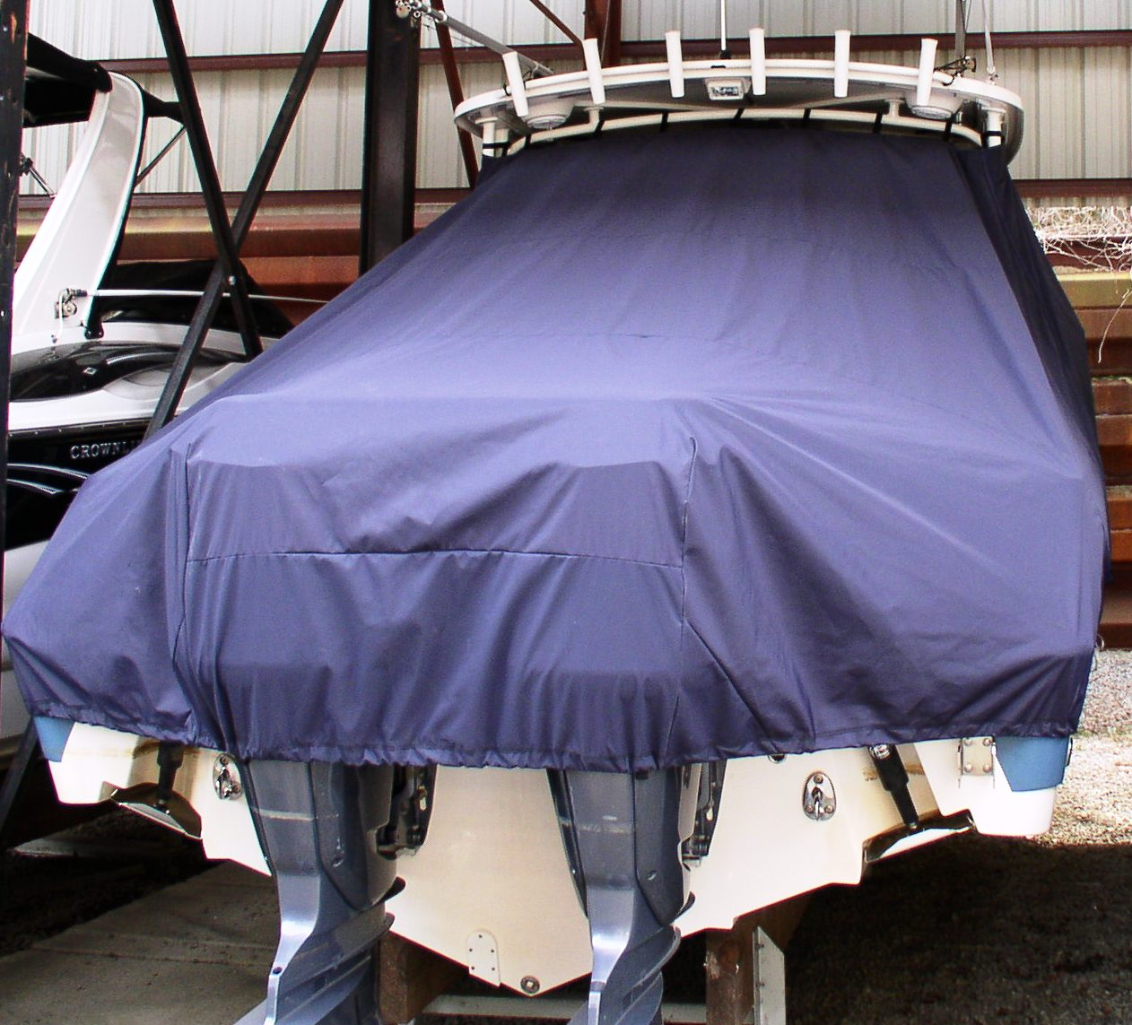 Edgewater 265CC, 20xx, TTopCovers™ T-Top boat cover rear