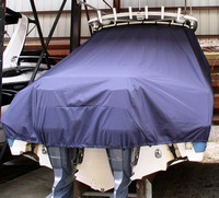Photo of Edgewater 265CC 20xx T-Top Boat-Cover, Rear