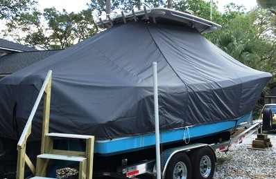 Edgewater 280CC, 20xx, TTopCovers™ T-Top boat cover, starboard rear