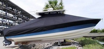 Edgewater 318CC, 20xx, TTopCovers™ T-Top boat cover side
