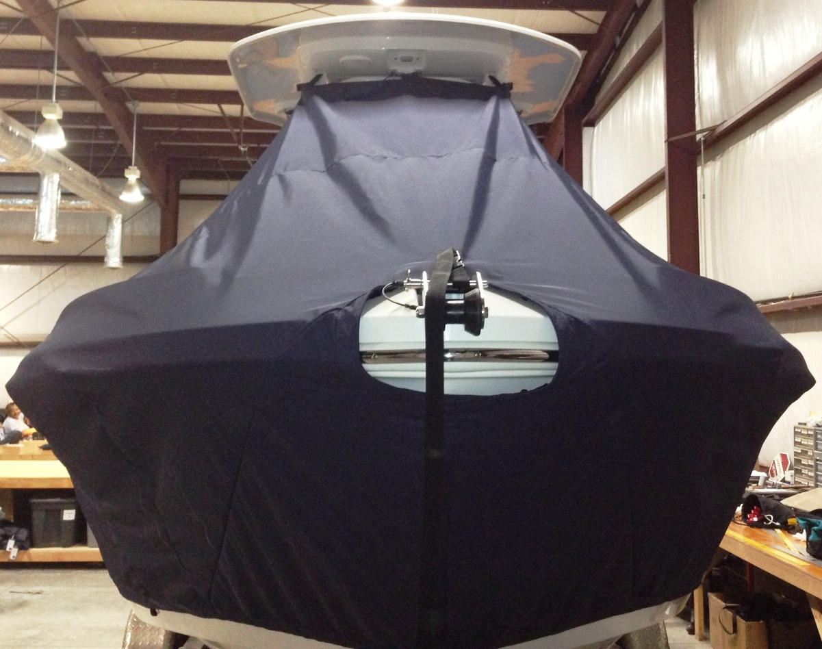 Everglades 210CC, 20xx, TTopCovers™ T-Top boat cover front