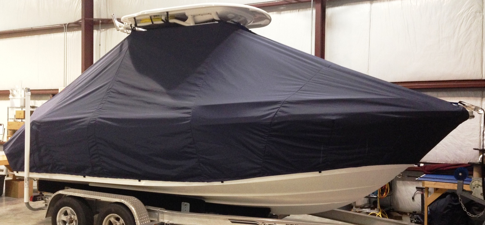 Everglades 210CC, 20xx, TTopCovers™ T-Top boat cover, starboard front