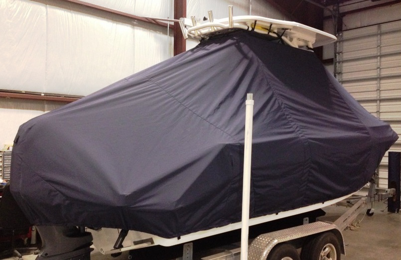 Everglades 210CC, 20xx, TTopCovers™ T-Top boat cover, starboard rear