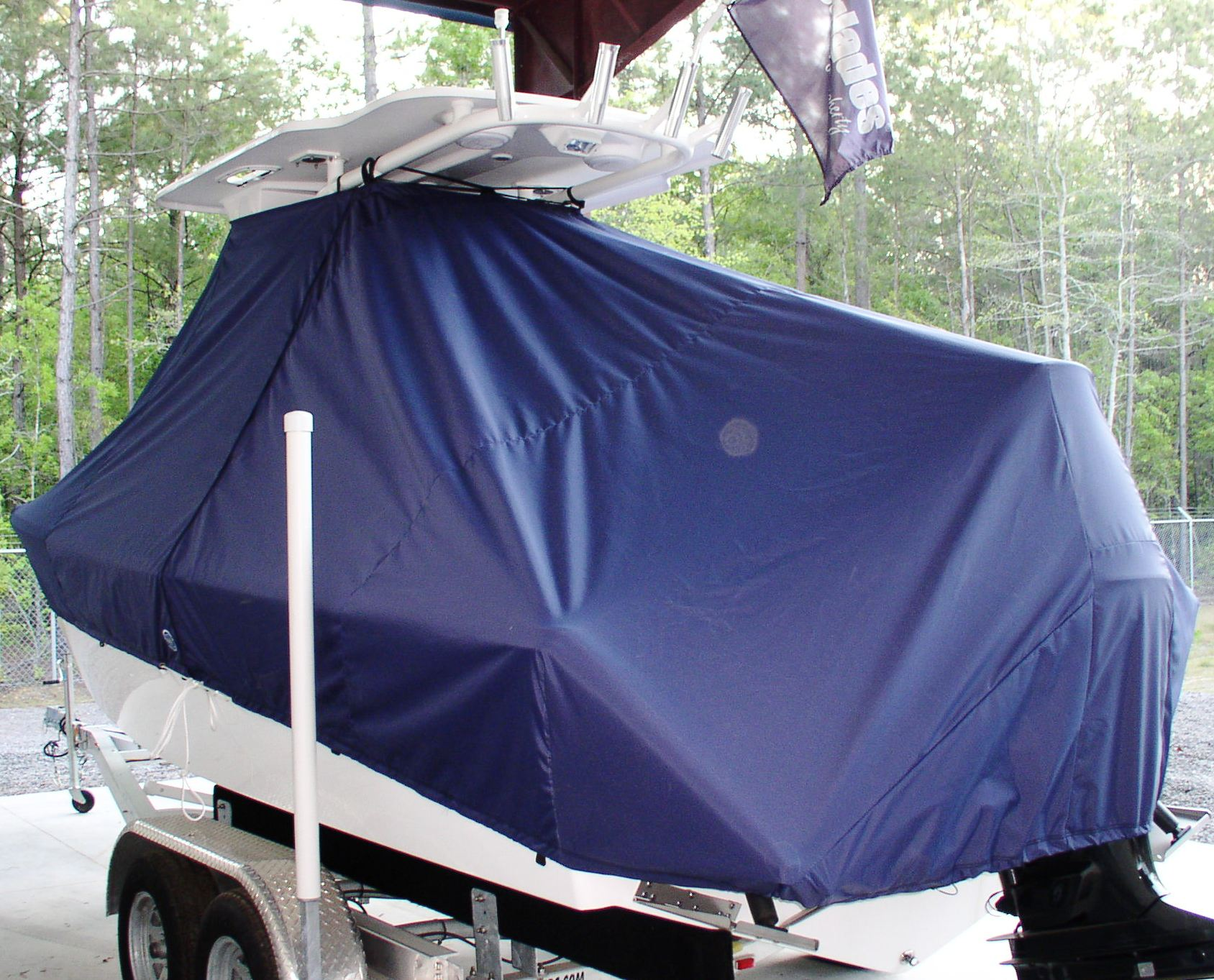 Everglades 211CC, 20xx, TTopCovers™ T-Top boat cover, port rear