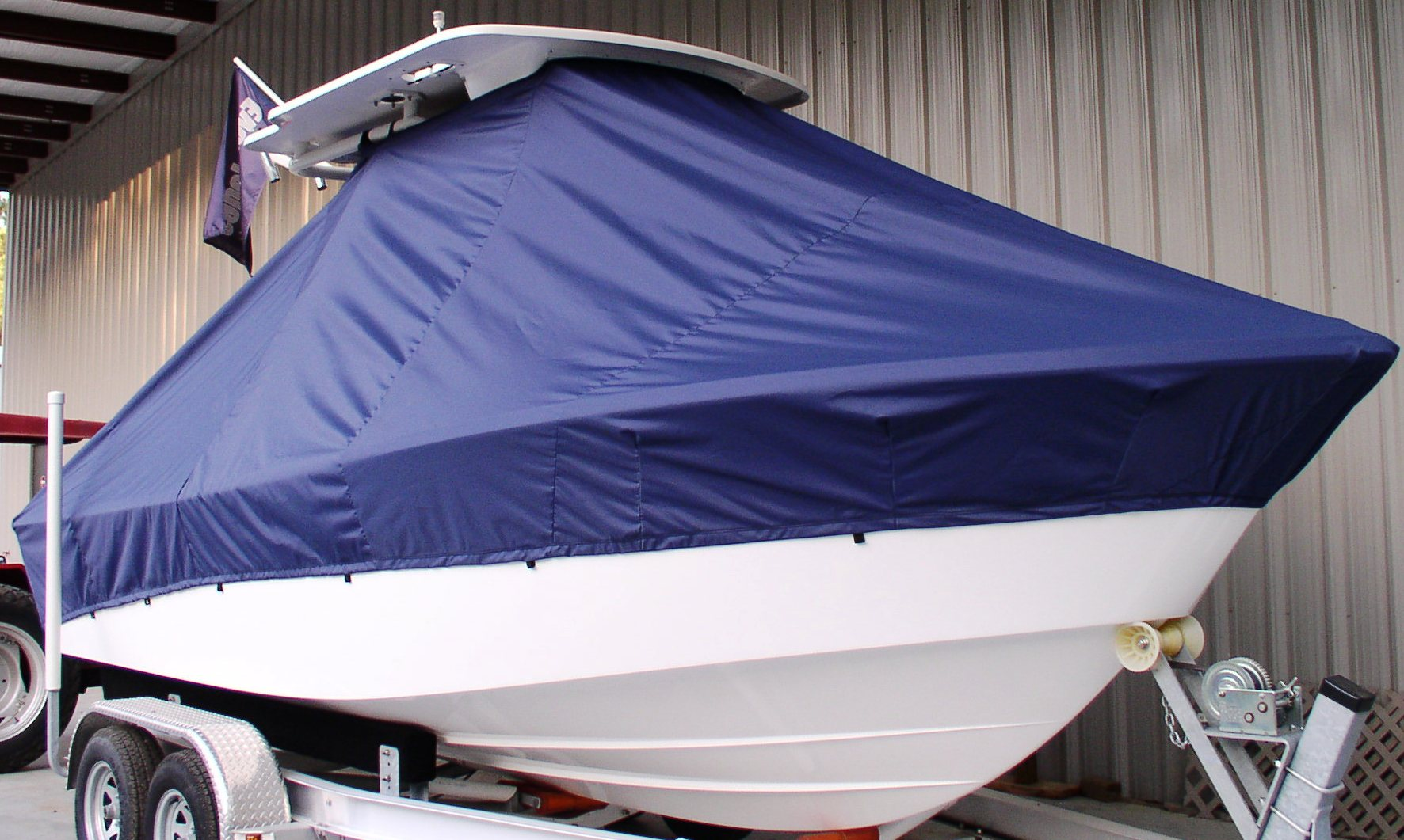Everglades 211CC, 20xx, TTopCovers™ T-Top boat cover, starboard front