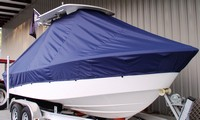 Photo of Everglades 211CC 20xx T-Top Boat-Cover, viewed from Starboard Front