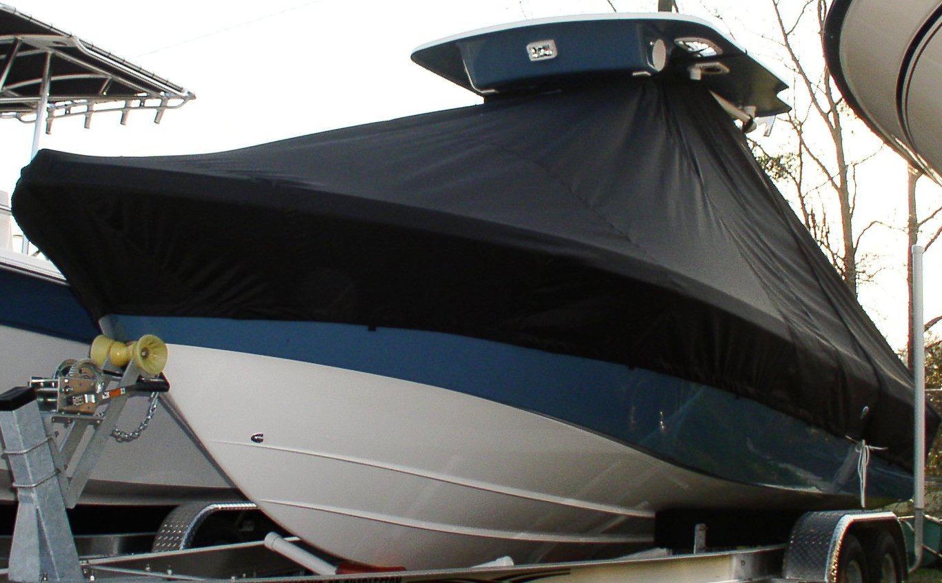 Everglades 223CC, 20xx, TTopCovers™ T-Top boat cover, port front