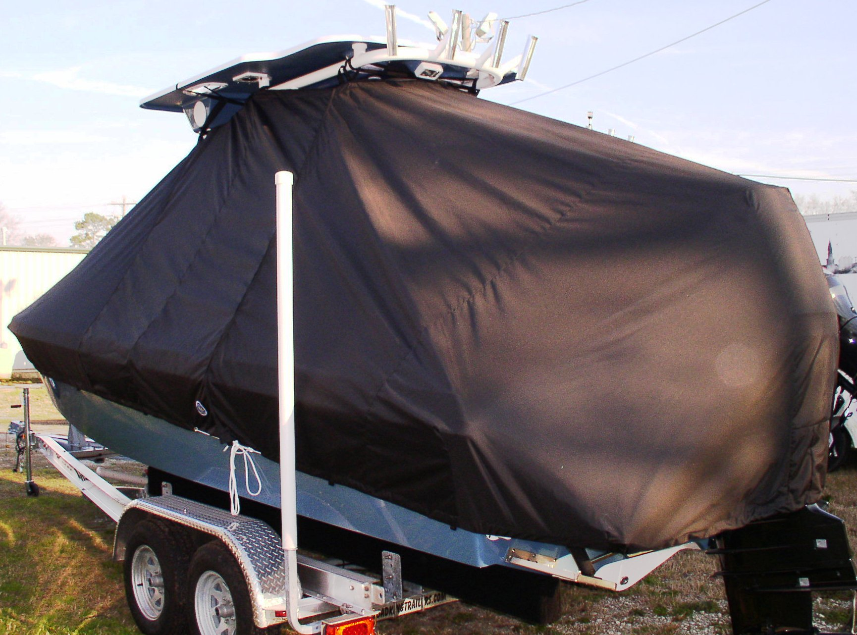 Everglades 223CC, 20xx, TTopCovers™ T-Top boat cover, port rear