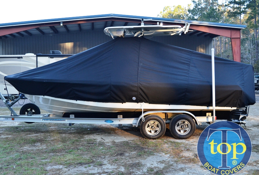 Everglades 223CC, 20xx, TTopCovers™ T-Top boat cover, port side