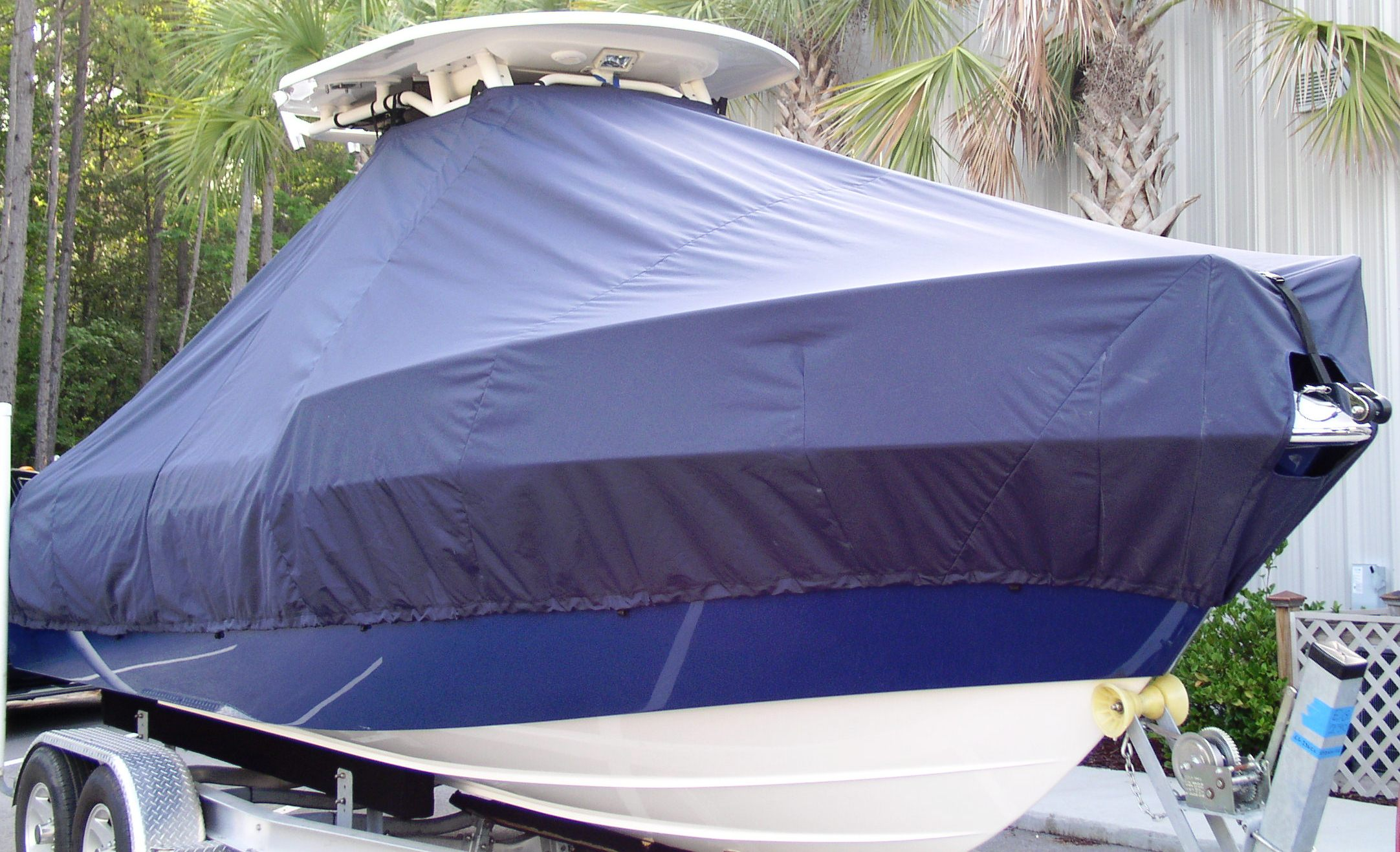 Everglades 230CC, 20xx, TTopCovers™ T-Top boat cover, starboard front