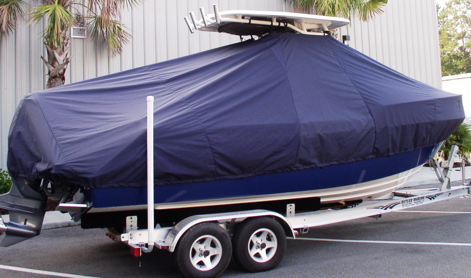 Everglades 230CC, 20xx, TTopCovers™ T-Top boat cover, starboard side