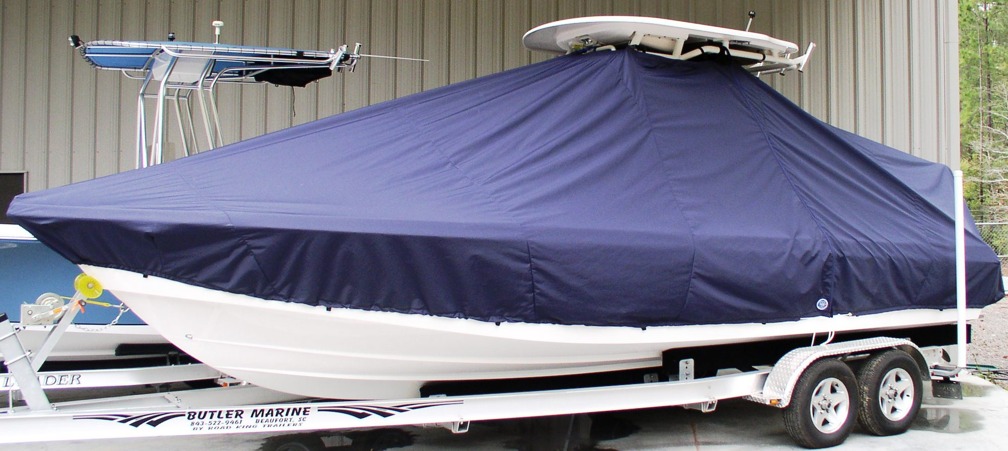 Everglades 243CC, 20xx, TTopCovers™ T-Top boat cover, port front