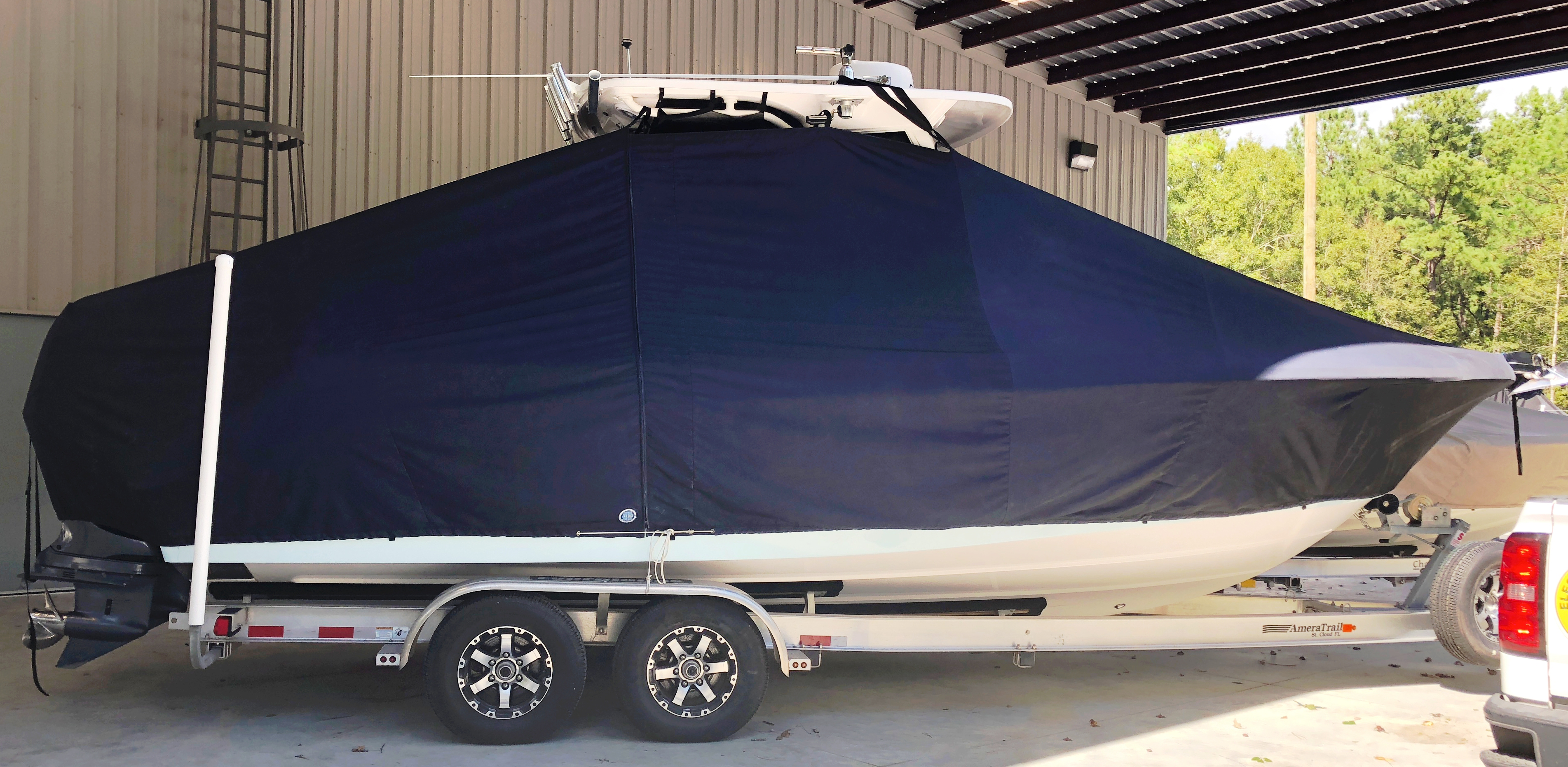 Everglades 255CC, 20xx, TTopCovers™ T-Top boat cover, starboard side