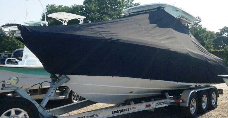 Everglades 275CC, 20xx, TTopCovers™ T-Top boat cover, port front