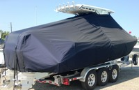 Photo of Everglades 275CC 20xx T-Top Boat-Cover, viewed from Starboard Rear