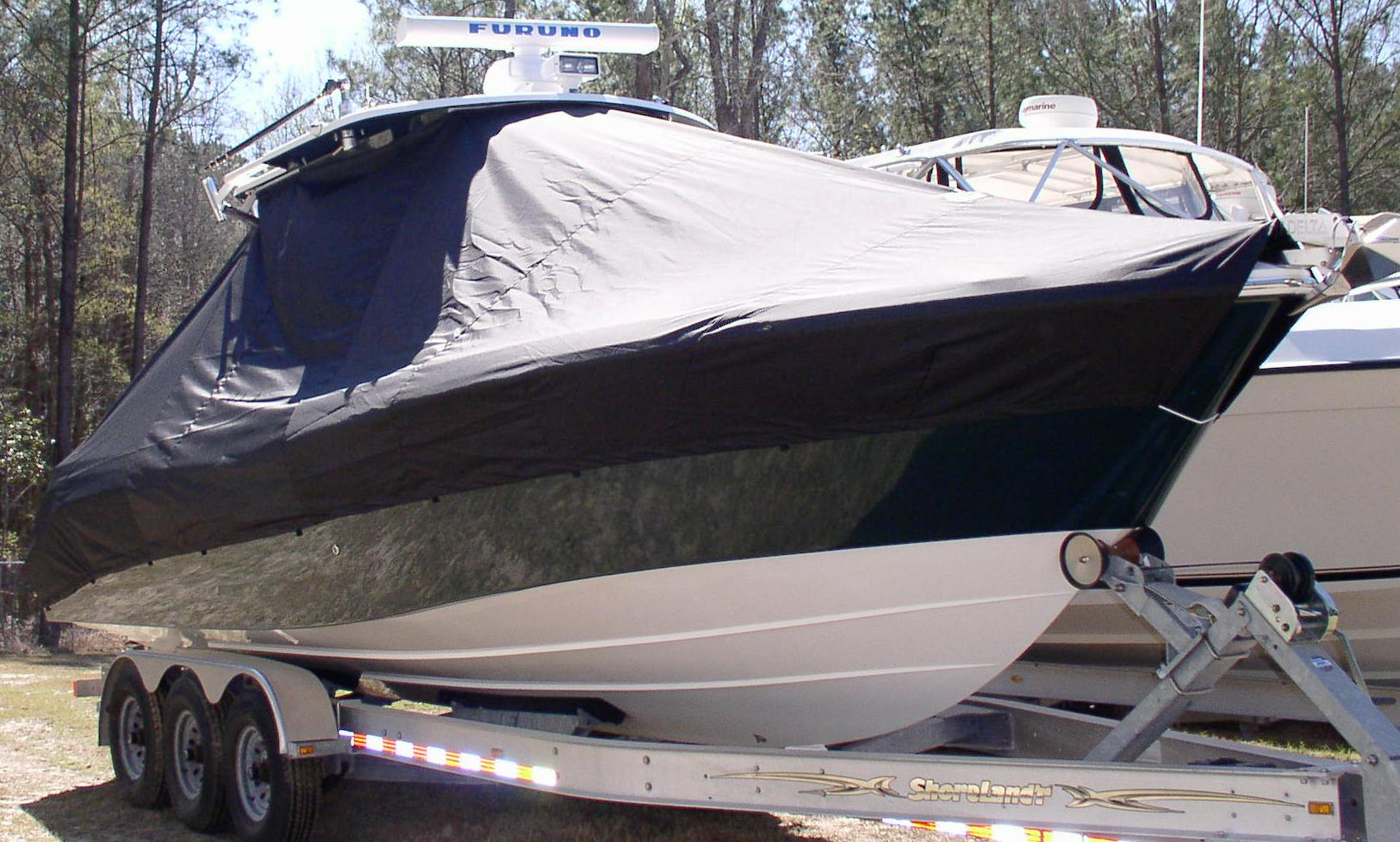 Everglades 290 Pilot, 20xx, TTopCovers™ T-Top boat cover, starboard front