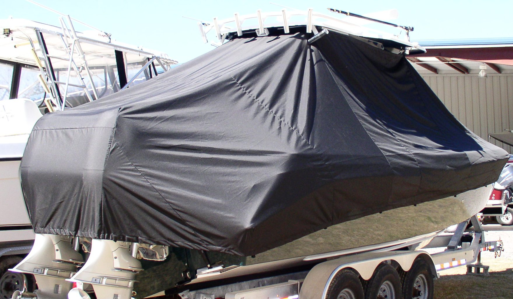 Everglades 290 Pilot, 20xx, TTopCovers™ T-Top boat cover, starboard rear