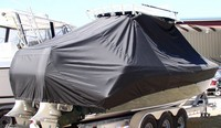 Photo of Everglades 290 Pilot 20xx T-Top Boat-Cover, viewed from Starboard Rear