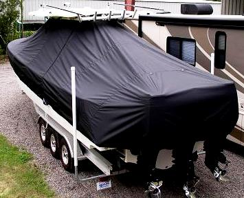 Everglades 350CC, 20xx, TTopCovers™ T-Top boat cover, starboard rear