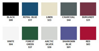 click to enlarge Exact-Fit® Boat-Covers Sharkskin Plus™ Color choices