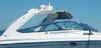 Photo of Formula 370 SS Aluminum WindShield, 2005: Bimini-Top, viewed from Starboard, Side