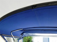 Photo of Formula 370 SS Aluminum WindShield, 2007: Arch Camper Top, Arch Connection Zipper Strip Side-Curtains, Inside