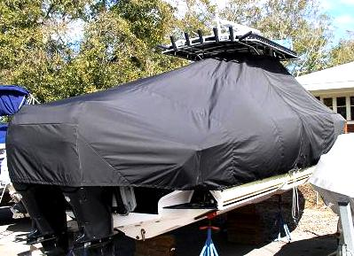 Fountain 32CC, 20xx, TTopCovers™ T-Top boat cover, starboard rear