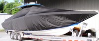 TTopCover™ Fountain, 38CC, 20xx, T-Top Boat Cover, stbd front