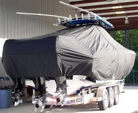TTopCover™ Fountain, 38CC, 20xx, T-Top Boat Cover, stbd rear