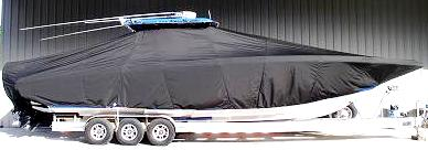 Fountain 38CC, 20xx, TTopCovers™ T-Top boat cover, starboard side