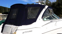 Four Winns, Vista 378, 2003, Bimini Top, Front Visor, Side Curtains, Camper Top, Camper Side and Aft Curtains, stbd rear