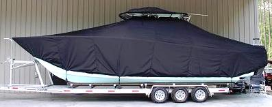 Freeman 33, 20xx, TTopCovers™ T-Top boat cover T Top Storage Bonnet, port side