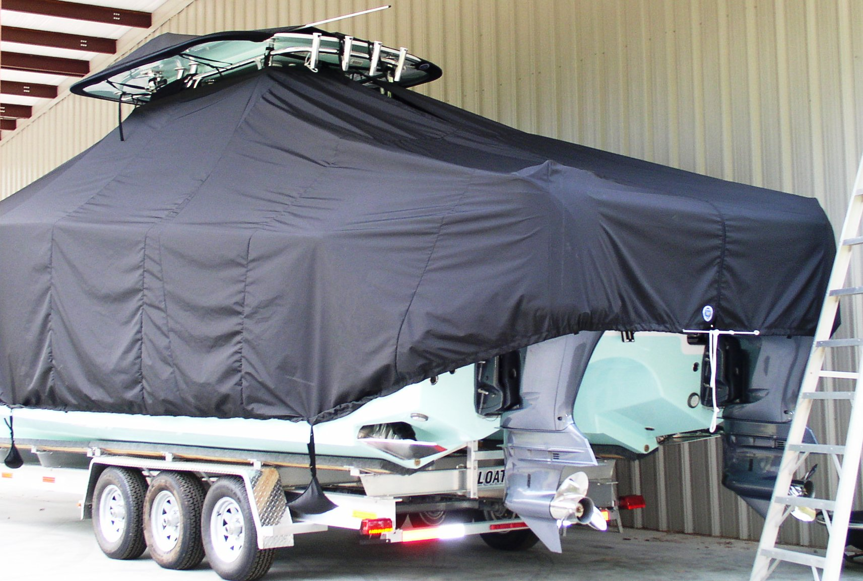 Freeman 34, 20xx, TTopCovers™ T-Top boat cover T Top Storage Bonnet, port rear