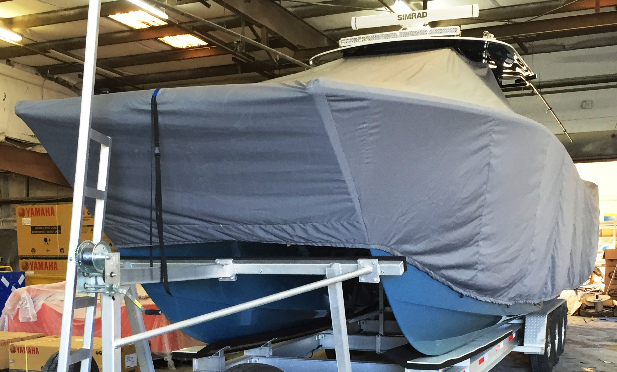Freeman 37, 20xx, TTopCovers™ T-Top boat cover, port front